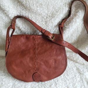 Lucky Brand Tan Leather Crossbody Purse